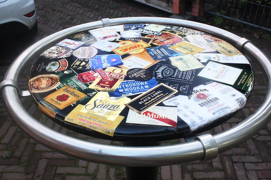 Bar tafel met epoxy
